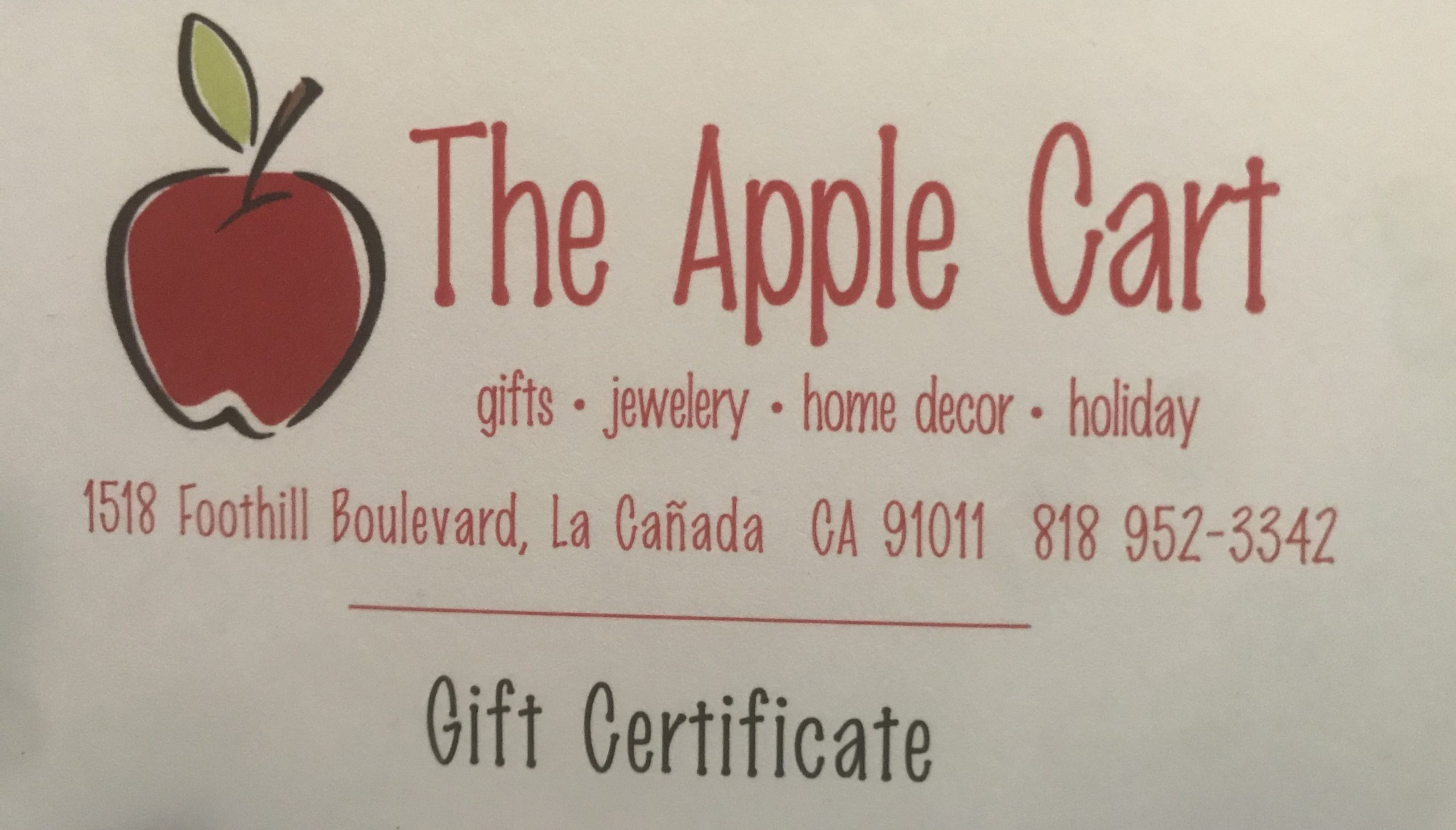 #1785  Apple Cart - Value $25