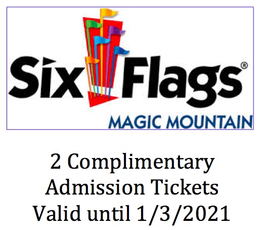 #1798  Six Flags - Value $186